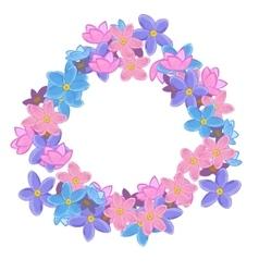 Floral cute wreath vector