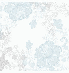 floral wedding lace background for design vector image