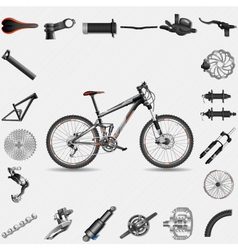 Full suspension MTB vector image