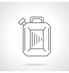 Gasoline canister flat line design icon vector