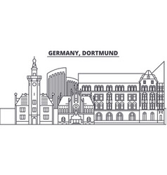 Germany dortmund line skyline vector