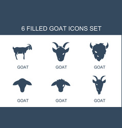 Goat icons vector