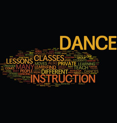 Great ways to learn to dance text background word vector