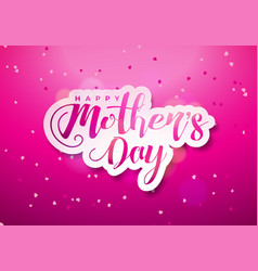 happy mothers day greeting card with hearth and vector image