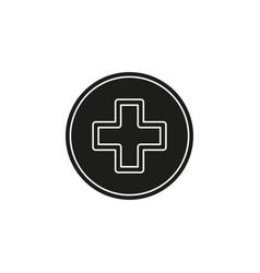 healthcare plus sign - medical cross symbol vector image