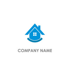 home realty agent logo vector image