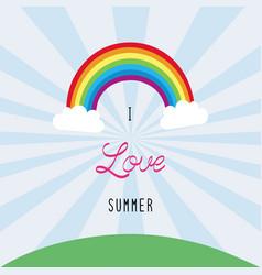 i love summer1 vector image
