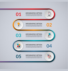 Infographic banner with 5 options steps parts vector
