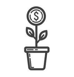 Investment growth line icon business and finance vector
