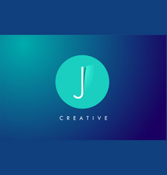 J letter logo icon design with paper cut creative vector