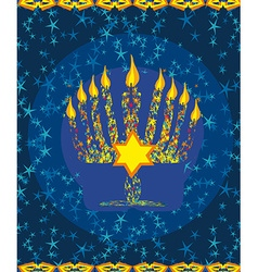 Jewish holiday hanukkah card vector