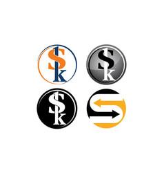 logotype modern template set vector image