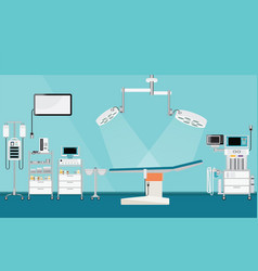 medical hospital surgery operation with medical vector image