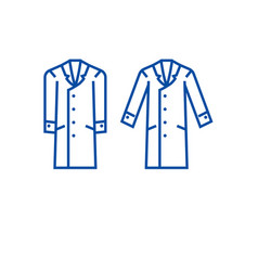 men overcoat line icon concept men overcoat flat vector image