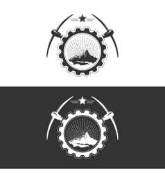 Mining industry design concept vector