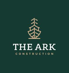 Modern professional logo ark construction on vector
