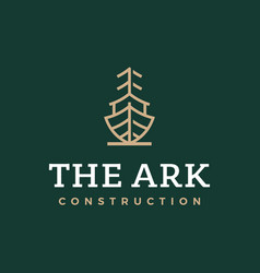 modern professional logo the ark construction on vector image