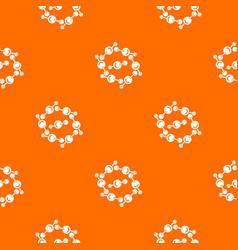 molecule design pattern orange vector image