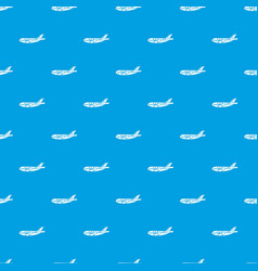 passenger airplane pattern seamless blue vector image