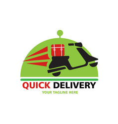 quick delivery logo vector image