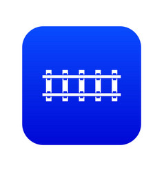 Railway icon digital blue vector