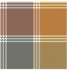 Retro mosaic plaid pixel seamless pattern vector