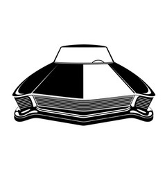 Retro muscle car vintage poster of vector