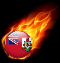 Round glossy icon of bermuda vector