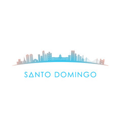 Santo domingo skyline silhouette design colorful vector
