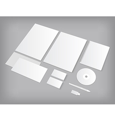 Set of CI templates mock-up with business cards vector image