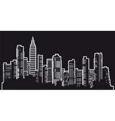 Silhouette of a city vector image