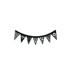 simple black icon of flags or pennants on white vector image
