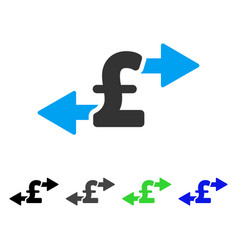 Spend pound money flat icon vector