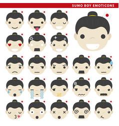 Sumo boy emoticons vector