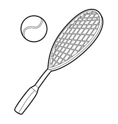 Tennis sport icon outline style vector