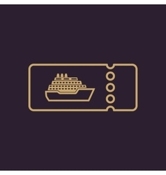 The cruise ship tickets icon travel symbol vector