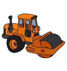 The orange road roller vector