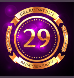 twenty nine years anniversary celebration with vector image