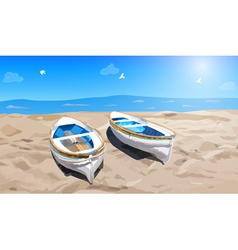 Two small boats vector image