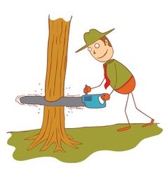 Using a saw machine vector