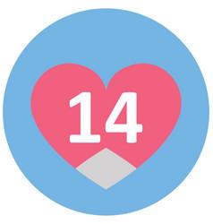 Valentine day isolated icon editable vector