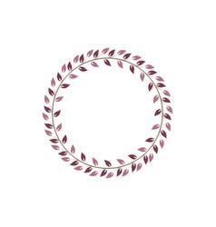 vintage floral round frames pink decorative ivy vector image