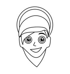 Virgin mary mother of god cartoon vector