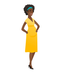young african-american pregnant woman laughing vector image