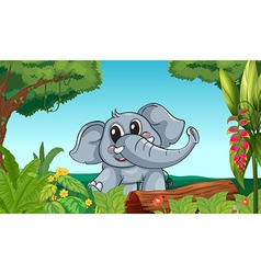 An elephant in the forest vector image vector image