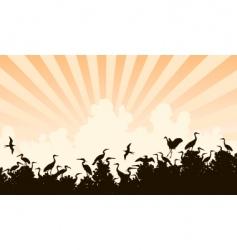 bird colony vector image vector image