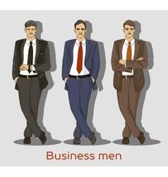 Business men set vector image