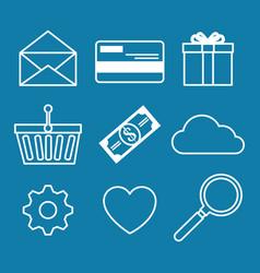 e-commerce icon set vector image