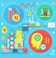 flat design concept of science and technology vector image