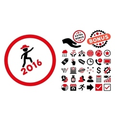 Gentleman Climbing 2016 Flat Icon with vector image vector image